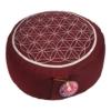 Meditationskissen - Blume des Lebens rot/silber